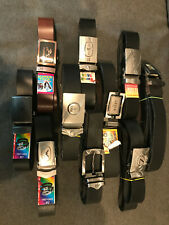 Lot of 10 (TEN) NEW Men's Leather-Like or PU Belts - Great Deal!