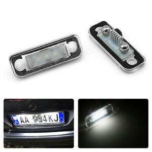 For Mercedes-Benz W203 W211 R171 C219 Number License Plate Lights Lamps Assembly
