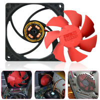 Red 80mm 2200RPM Silent High Performance Computer PC 3Pin Case Cool Cooling Fan