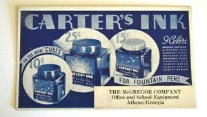 Vintage Athens, GA Carter's Ink Blotter - McGreggor Company