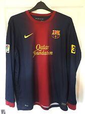 2012/2013 FC Barcelona Hogar Camiseta De Fútbol Nike FCB Qatar Foundation XL hombre LS