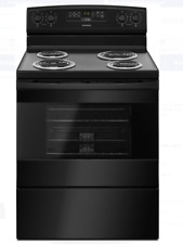 """Amana Black 30"""" Freestanding Electric Range with 4 Coil Burners - Acr4303Mfb"""