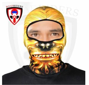 Road Riders Motorcycle Full Face Protective Mask - ORANGE