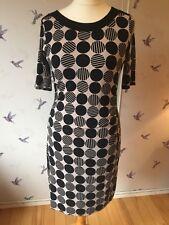 Gerry Weber Taifun Black & Beige Spotted Dress Medium