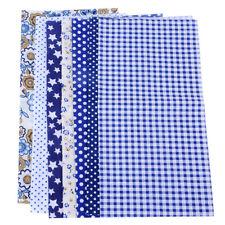 7 Blau Baumwolle Tuch Stoff Baumwolle Floral DIY-Nähen Patchwork Stoffpakete