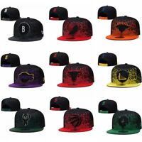 New NBA Baseball Cap Adjustable Flat Brim Snapback Basketball Team Hats