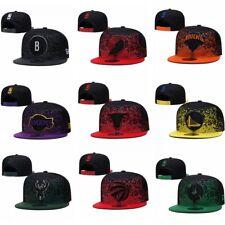 New NBA Baseball Cap Adjustable Flat Brim Snapback Basketball Team Hats