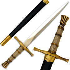 Armor Piercing Dagger Medieval Knightly Dagger 15.5in Steel Wire-wrapped Handle