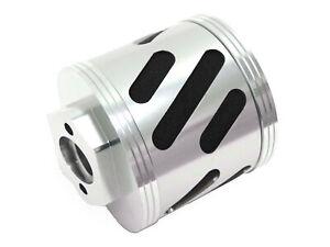 1/5 Rovan Silver CNC Aluminum Angled Air Filter Kit Fits HPI Baja 5T 5B 2.0 KM
