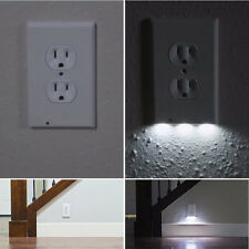 LED Night Angel Light Wall Outlet Face Hallway Bedroom Bathroom Safty Light 110V