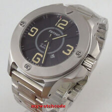 47mm Parnis black dial orange Sapphire Glass miyota Automatic mens Watch P1194