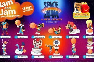 2021 SPACE JAM NEW LEGACY MCDONALDS TOYS - LEBRON - U PICK LOONEY TUNES