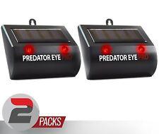 2 Pack Predator Eye Deterrent Solar Powered Animal Pest Control Repeller Device