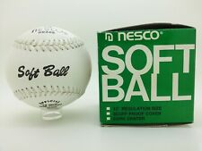 "Vintage Nesco 12"" Softball-New In Original Box Package-Sb352 Nelson Recreation"