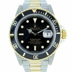 ROLEX SUBMARINER DATE STAINLESS STEEL & GOLD 16800 CONVERSION
