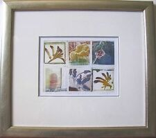 "SUSAN BARAN AUSTRALIAN FRAMED MONOPRINT MIXED ""RETRO IMAGES"" C 1995"