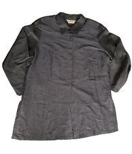 Marina Rinaldi Women's Blue Flare 3/4 Sleeve Linen Silk Shirt Size 25 (US 16)