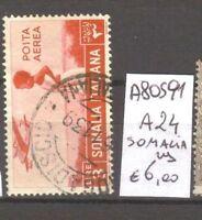 FRANCOBOLLI COLONIE SOMALIA USATI N. A24 (A80591)