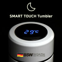 Stainless Steel Smart Touch Tumbler | LED Temperature Display Mug 450 mL
