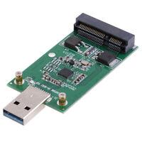 USB 3.0 to PCIE mSATA SSD External mSATA to USB 3.0 SSD Convertor Adapter YNS