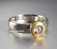 Einzelstück * Ring * 925 Silber * 24 ct Gold * Bergkristall  *