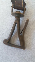 VINTAGE  / ANTIQUE BRONZE SMALL CARABINER-  4 INCH LENGTH