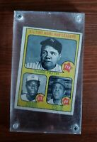 1973 TOPPS ALL TIME HOME RUN LEADERS CARD Ruth, Aaron, Mays