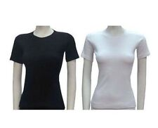 Ladies Thermal Short Sleeve vest Top  Superior Quality Brushed inside 100%Cotton