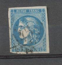 Timbre BORDEAUX N°46B 20c bleu TB. Cote 25€. A2011