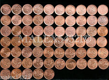 CANADA 1960 TO 2012 1 CENT RED/BROWN AU (65 COINS)
