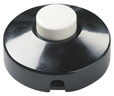 Interruttore a pedale VIMAR passante 00680 corpo nero tasto bianco
