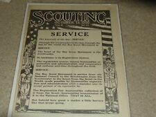 Boy Scout BSA World Jamboree Pic October 14, 1920 Scoutmaster Scouting Magazine