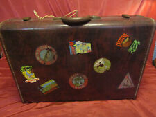 "RARE 50s? Vintg 26x18"" Samsonite Shwayder Bros Inc Denver Detroit Suitcase W/KEY"