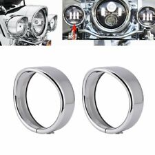 Bikers Choice 4.5 inch Auxiliary Lamp Visor Style Passing Lamp Trim Ring Harley