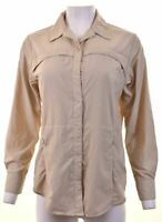 ROHAN Womens Shirt Size 10 Small Beige Polyamide  GJ10