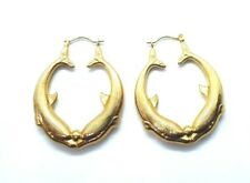 Hallmarked 9ct Yellow Gold Ball Hoop Earrings