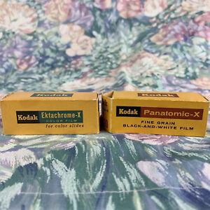 RARE Kodak Ektachrome-X EX 120 & Panatomic-X FX 120 Slide Film - Expired 1967