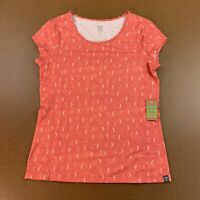 Title Nine Women's Size Small Spiced Coral Moon Dot Henerala Short Sleeve Top