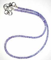 """12-45"""" Inch Strand Necklace Tanzanite Zircon Gemstone 3mm Rondelle Cut Beads 785"""