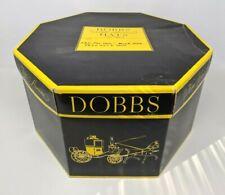 Vtg Dobbs Fifth Avenue New York Octagon Hat Box Only Storage Black & Yellow #1
