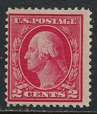 SCOTT 406 1912 2 CENT WASHINGTON REGULAR ISSUE MH OG VG!