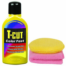 T-Cut Color Fast Yellow Polish Scratch Remover Clean Shine 500ml + Cloth & Pad