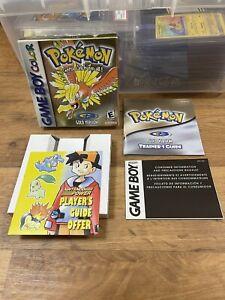 Pokemon Gold Gameboy Colour Empty Box With Inserts 💎 Retro💎
