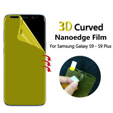 2 Pack FULL SCREEN Face Curved TPU Screen Protector Cover For Samsung Galaxy S9