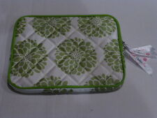 green Penelope Ann Ipad tablet laptop phone soft padded holder carrying case