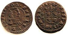 España-Felipe IV. 8 Maravedis 1662. Trujillo. MBC+. Cobre 1,6 g. Muy bonita