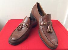 Florsheim Imperial Brown Leather Loafer Slip On mens SZ 12M Made in Italy (bx16)
