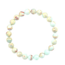 Fashion Good Natural Shoushan Stone Beaded Stretch Bracelet 7.5'' 6 8 10 12mm