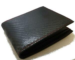 Genuine Carbon Fibre Leather Mens Wallet Drift Rally Race Turbo Purse ID Card