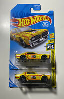 2 Hot Wheels 2018  '68 Mercury Cougar Yellow Champion 8/10 Kmart Exclusive 1:64